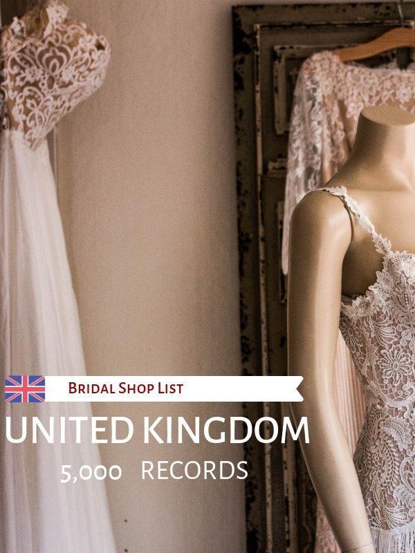 UK Bridal Shop List